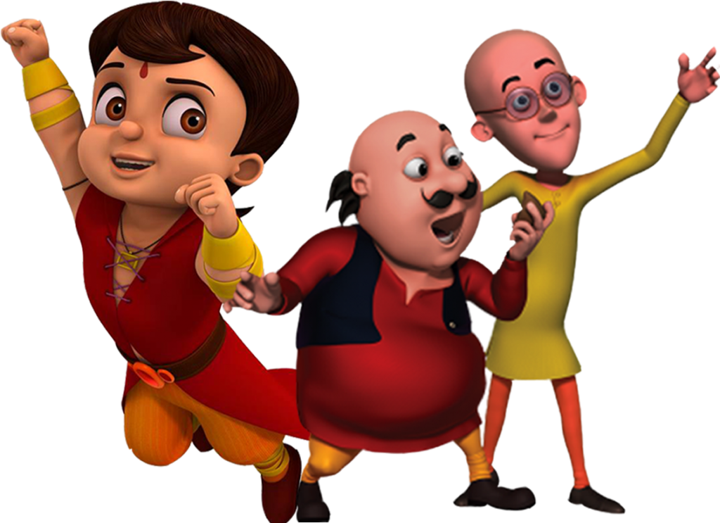 Check out this transparent Motu Patlu group PNG image.