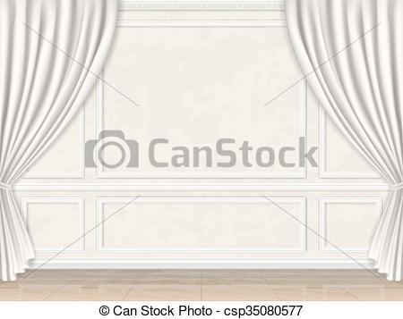 Vectors Illustration of wall decorated panel mouldings and.