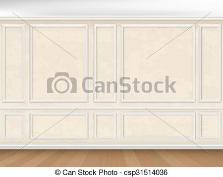 Vectors of wall decorated panel mouldings in classic style.