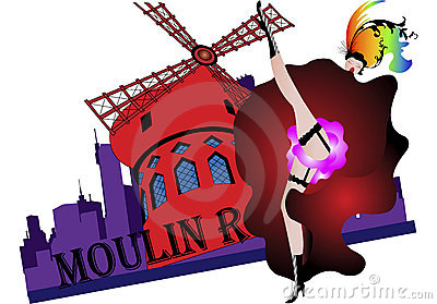 Moulin rouge clipart.
