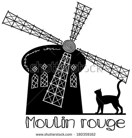 Moulin clipart #8