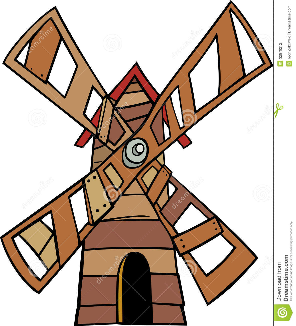 Windmill Clip Art Cartoon Illustration Stock Photography.