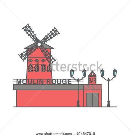 Moulin Rouge Banque d'images vectorielles, d'images et de motifs.