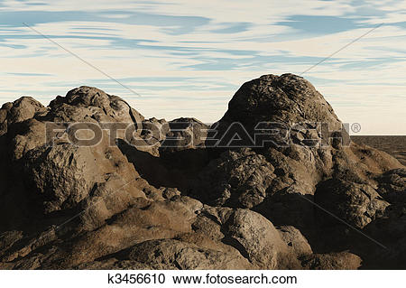 Stock Illustrations of Clay Mound k3456610.