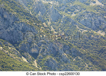 Stock Photos of Skete of St. Anne. Holy Mount Athos. csp22600130.