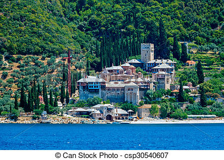 Stock Photography of Dochiariou Monastery, Mount Athos.