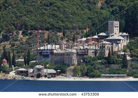 Dochiariou Monastery, Athos Peninsula, Mount Athos, Chalkidiki.