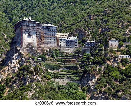 Stock Images of Simonopetra Monastery, Mount Athos k7030676.