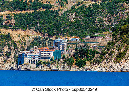 Stock Photo of Dionissiou monastery, Mount Athos.