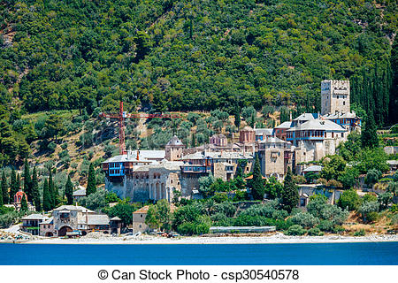 Picture of Dochiariou Monastery, Mount Athos.
