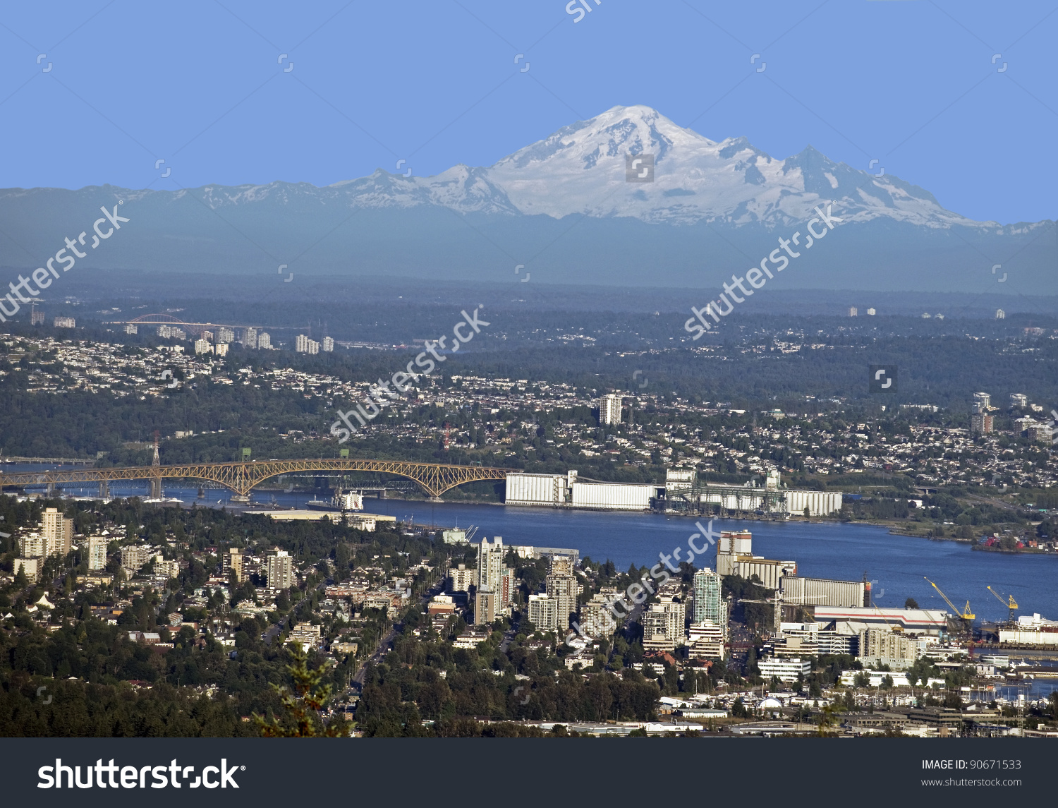 Vancouver North Vancouver W Mt Baker Stock Photo 90671533.