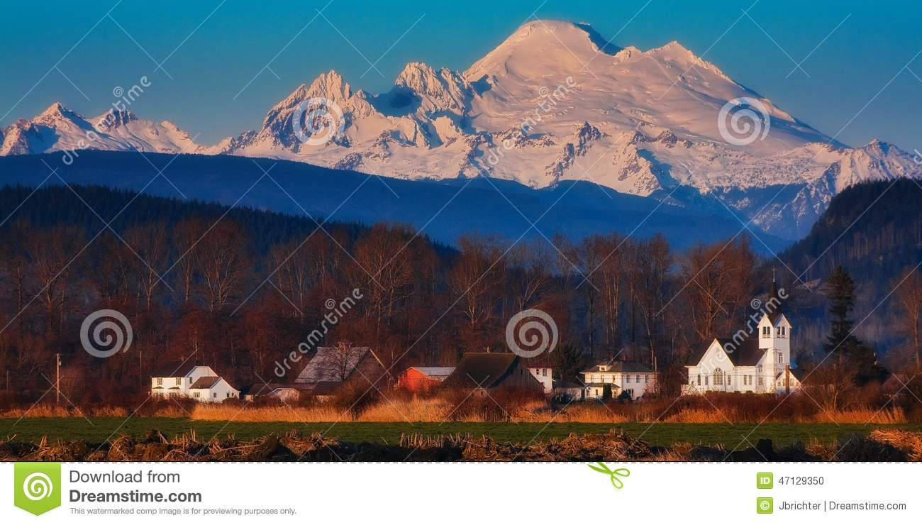 Mt. Baker, Washington State Stock Photo.