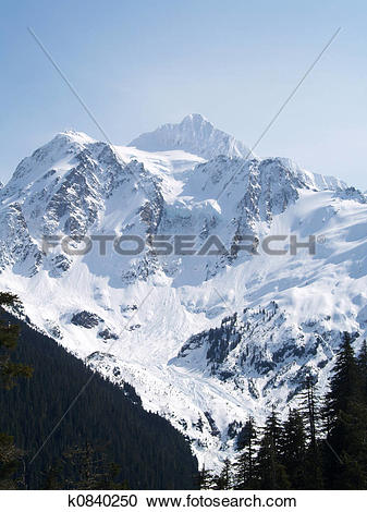 Stock Photography of mt. baker k0840250.