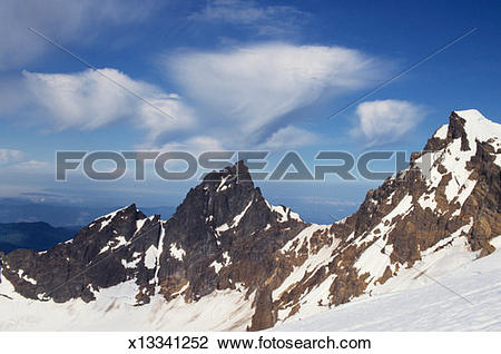 Stock Photo of Mountain top, Mount Baker National Recreation Area.