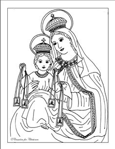 Saint Martha Catholic coloring page. Feast day is July 29.