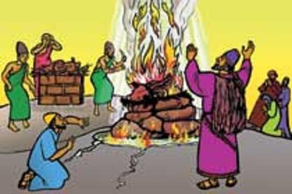 Elijah and Baal Clip Art.