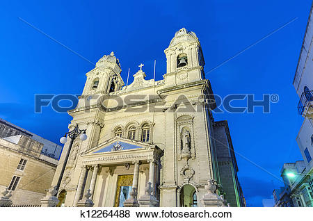 Pictures of Our Lady of Mount Carmel in Gzira, Malta k12264488.