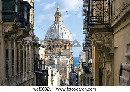 Stock Photography of Malta, Valletta, Basilica Our Lady of Mount.