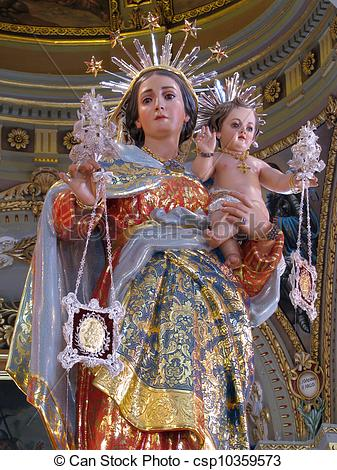 Picture of Our Lady of Mount Carmel.