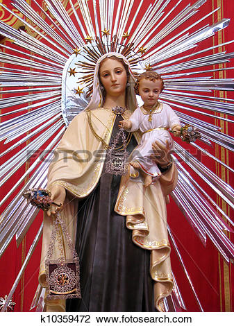 Stock Photo of Our Lady of Mount Carmel k10359472.