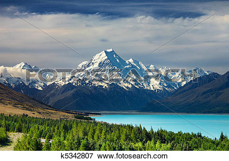 Picture of Mount Cook, New Zealand k5342807.