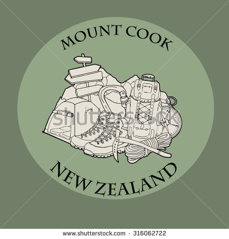 Mount Cook Stock Vectors & Vector Clip Art.