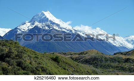 Stock Photography of Mount Cook New Zealand k25216460.