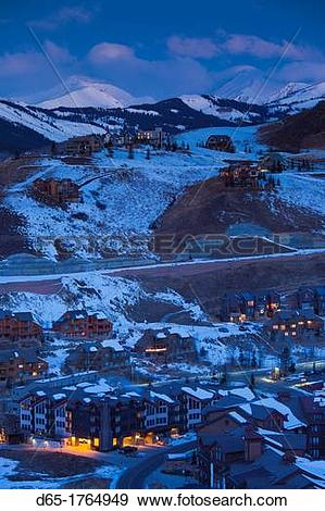 Stock Photograph of USA, Colorado, Crested Butte, Mount Crested.