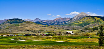 Mt. Crested Butte Stock Photo.