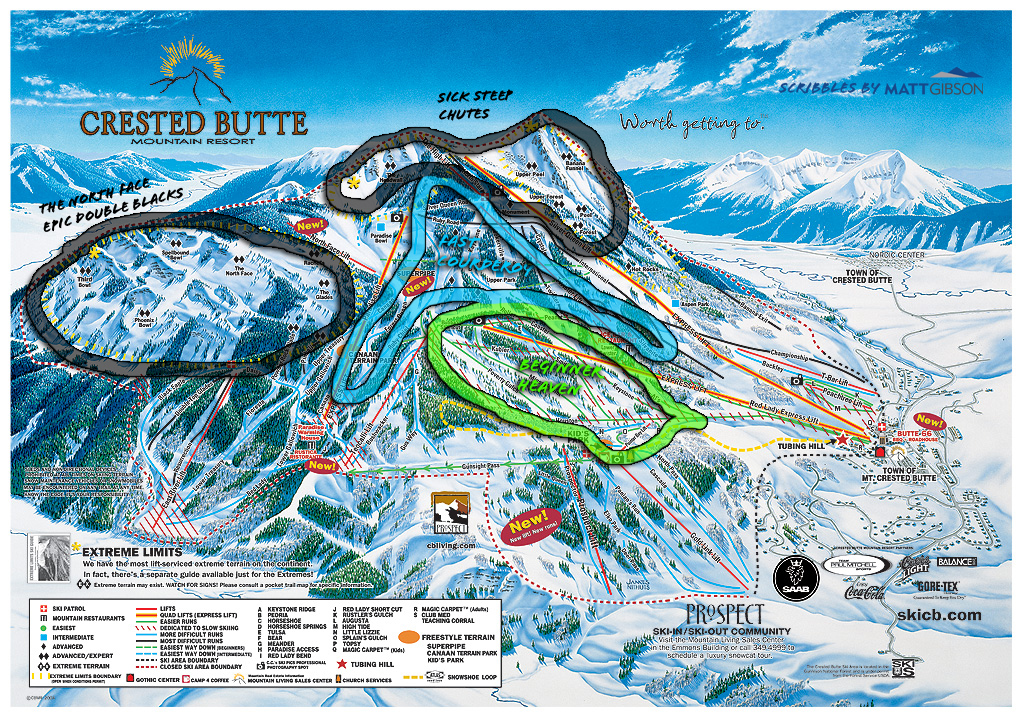 Mount crested butte clipart #4