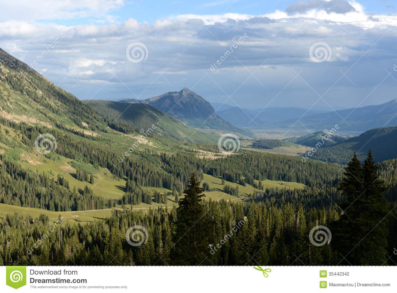Mount Crested Butte Stock Photography.