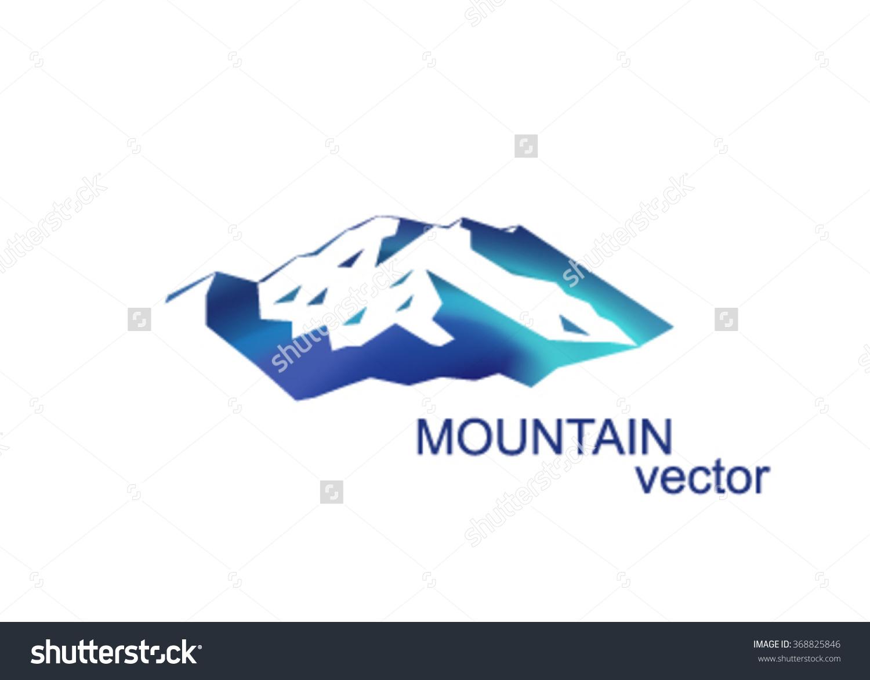 Vector Mountains Peak Denali Logo Mount Stock Vector 368825846.