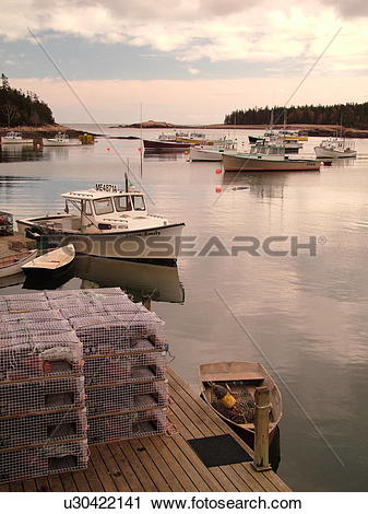 Stock Photography of Birch Harbor, ME, Maine, Mount Desert Island.