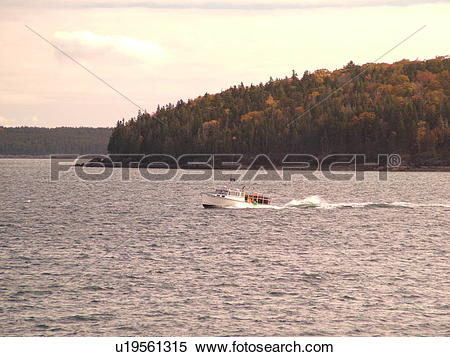 Stock Image of Bar Harbor, ME, Maine, Mount Desert Island.