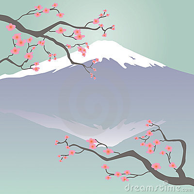 Mount Fuji Stock Illustrations.