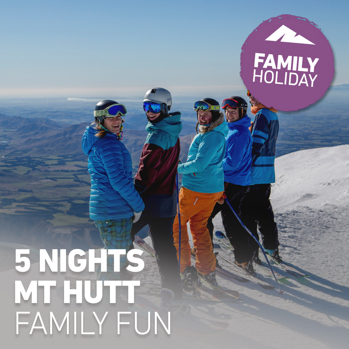 5 Nights Mt Hutt Family Fun.