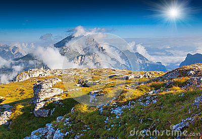 Mountain Range In The Dolomites Stock Photography.