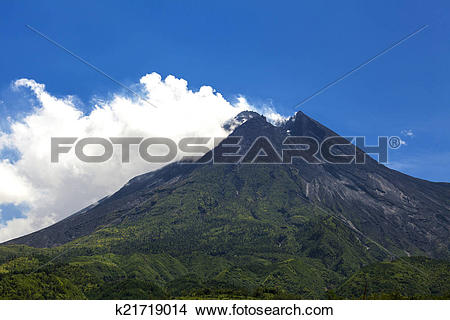 Stock Photo of Mount Merapi k21719014.