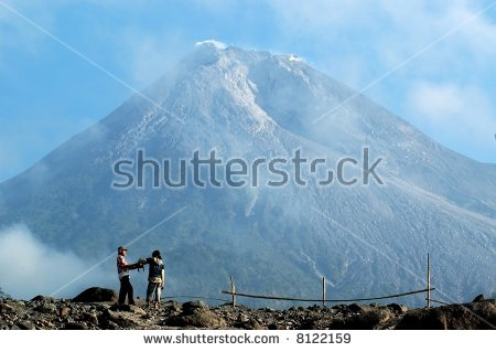 Mount Merapi Stock Photos, Royalty.