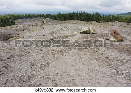 Stock Photo of Mount Merapi Lava Plateau, Indonesia k4975832.