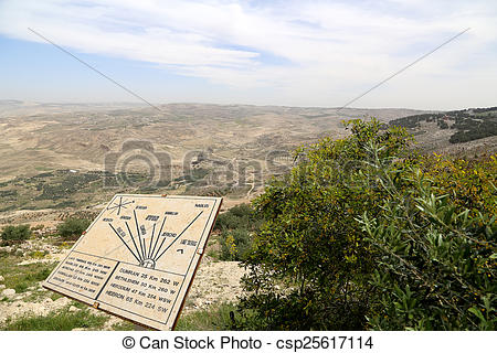 Stock Photography of desert mountain landscape (aerial view from.