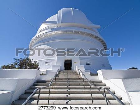 Stock Photograph of Low angle view of observatory, Palomar.