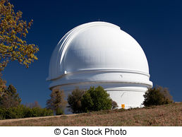 Stock Photo of Mt. Palomar Observatory in Southern California.