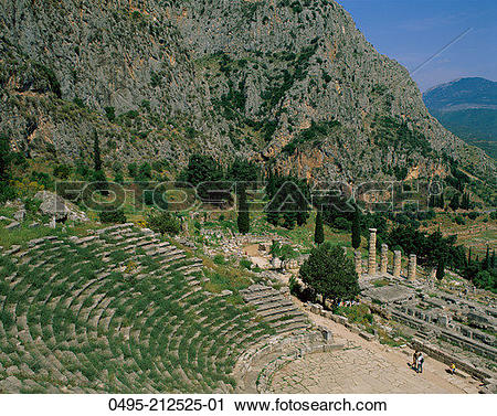 Stock Photography of Greece, Delphi & Mount Parnassus 0495.