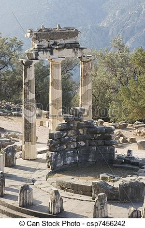 Stock Photo of delphi oracle Greece.