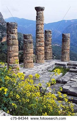 Stock Photo of Sanctuary of Apollo (4th century B.C.), Mount.