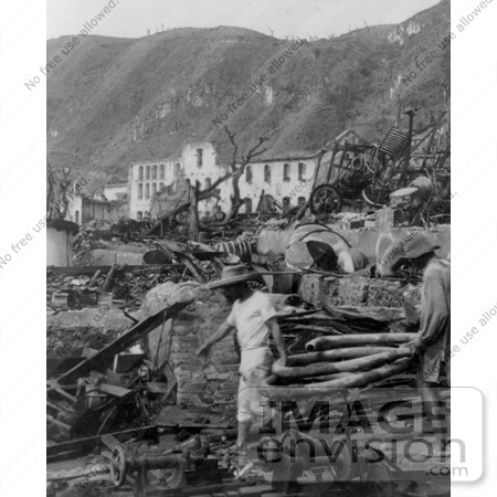 Picture of Martinique After Eruption of Mont Pelee.