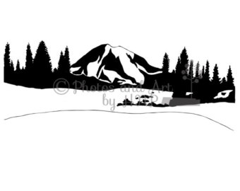 Mount Rainier Clipart.