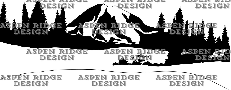 Mount Rainier Clipart.