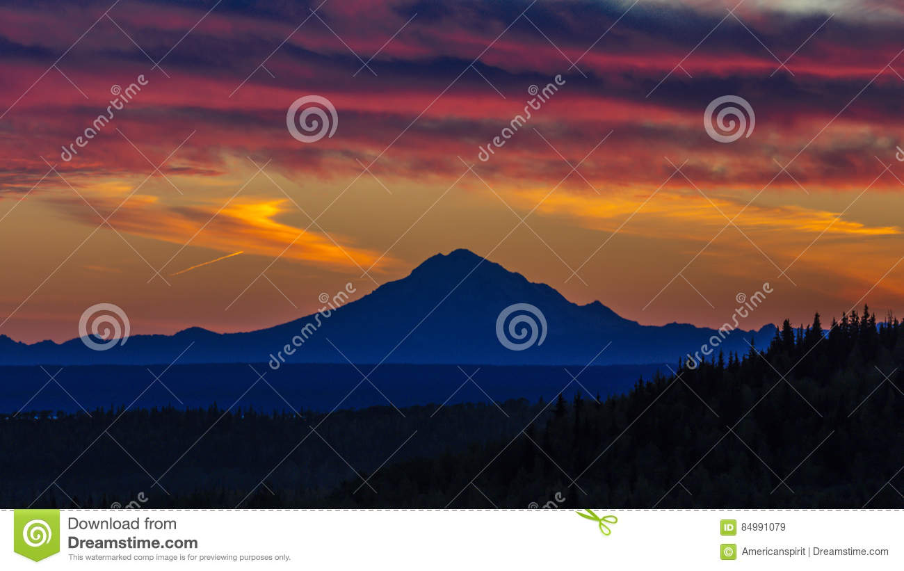 September 1, 2016, Mt Redoubt Volcano At Skilak Lake, Spectacular.